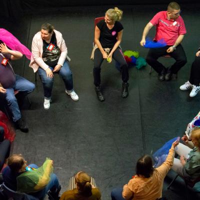 Volop dans tijdens de kick-off van 'Middin Danst' in het Laaktheater