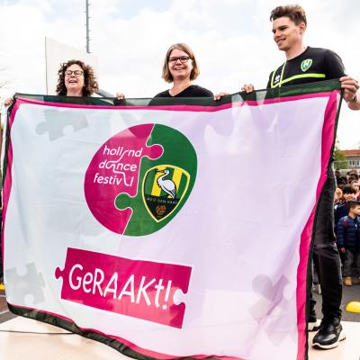Eerste geRAAKt!-week succesvol gestart in aanwezigheid van ADO-voetballer Danny Bakker